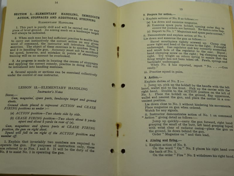 43 Original WW2 British Pamphlet Instructional Notes On The