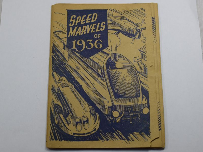 Vintage Speed Marvels of 1936 Post Card Album, Empty