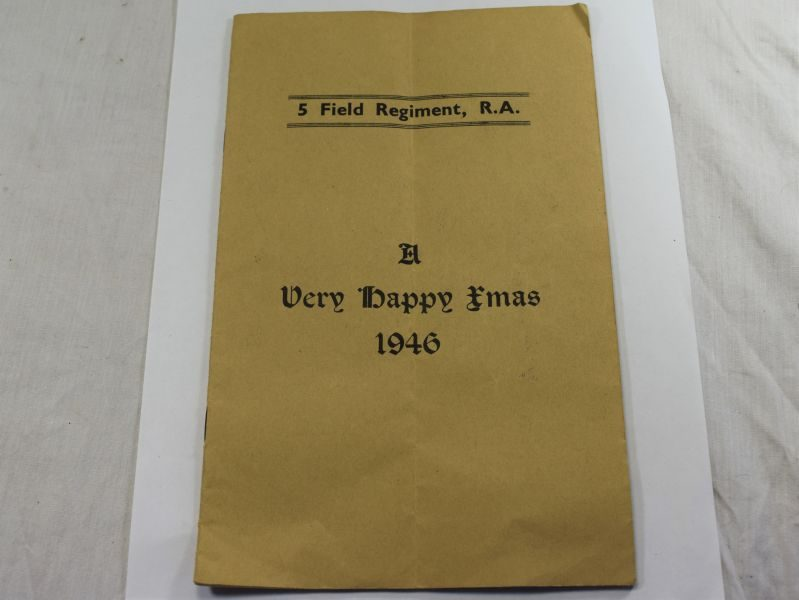 Original 5th Field Regt RA Christmas 1942 Booklet Listing The Casualties & Survivors of Regiment