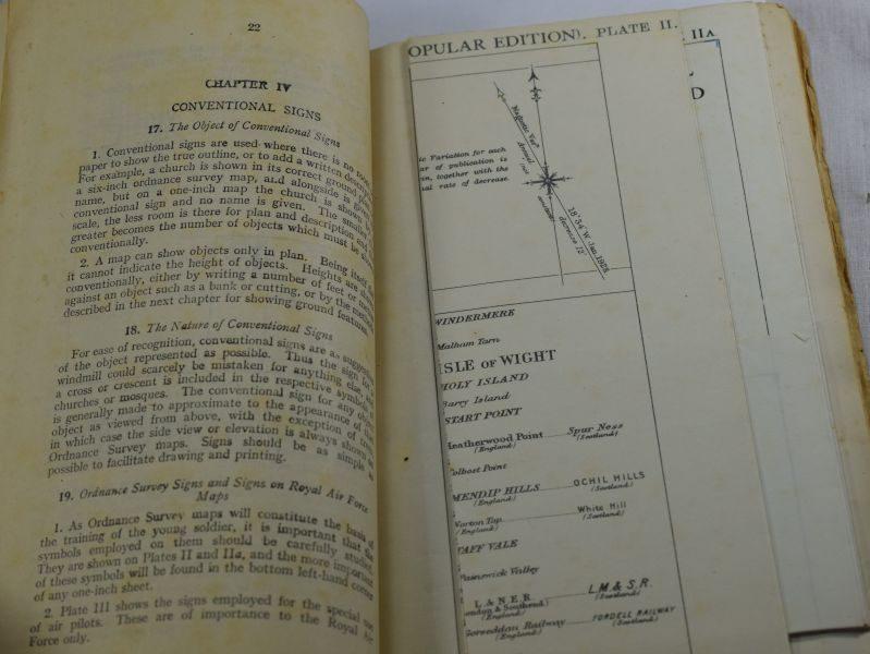 Original WW2 British Army Handbook Notes on Map Reading 1929, Printed 1941