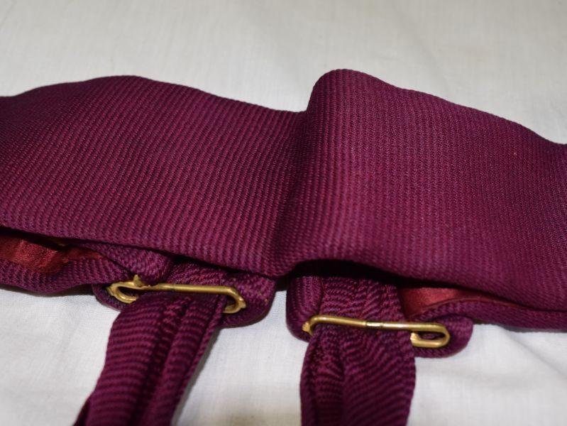 Vintage British Army Maroon Waist Sash with 2 Tassels