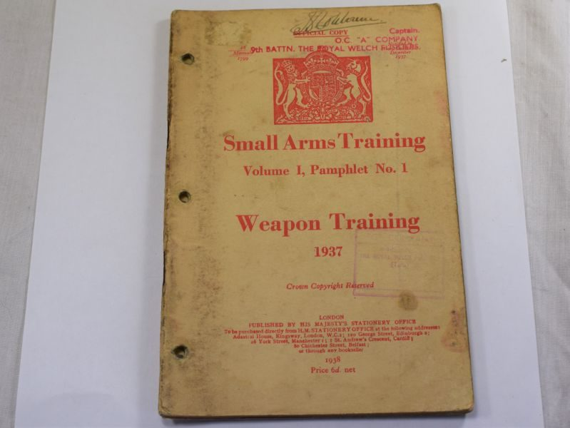 48 Original WW2 British Small Arms Training Pamphlet Vol I No1 Weapon Training 1937