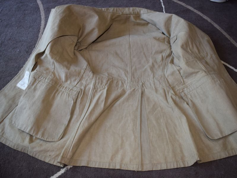 RAF Jacket Khaki Drill OA 1949 Pattern With Insignia, Dated 1955