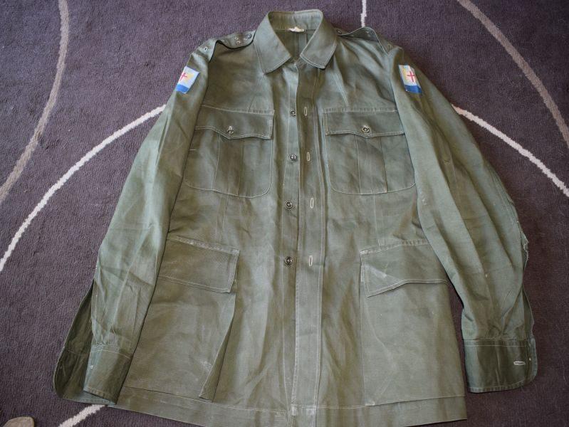 1950s British Army Officers JG Bush Jacket & ALFSEA, SEALF, GHQ FARELF Insignia