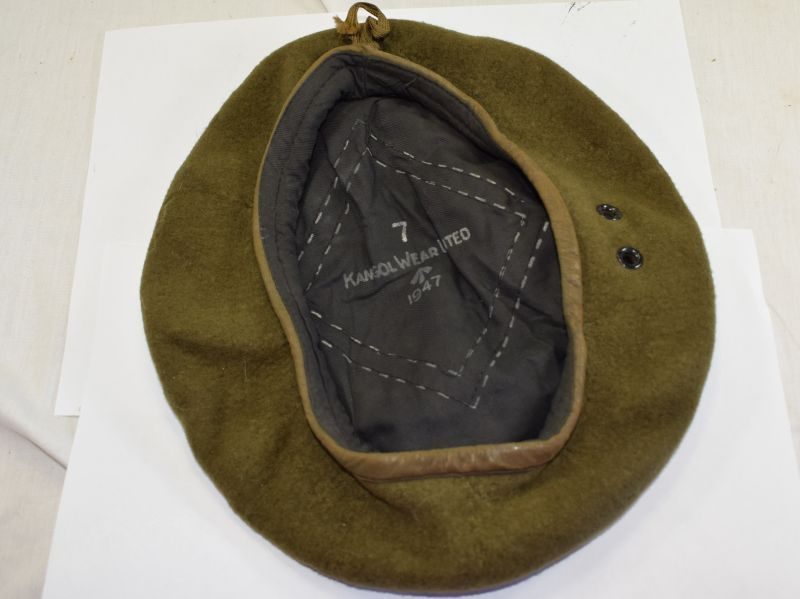 British Army Issue Khaki Beret Kangol Wear Limited 1947
