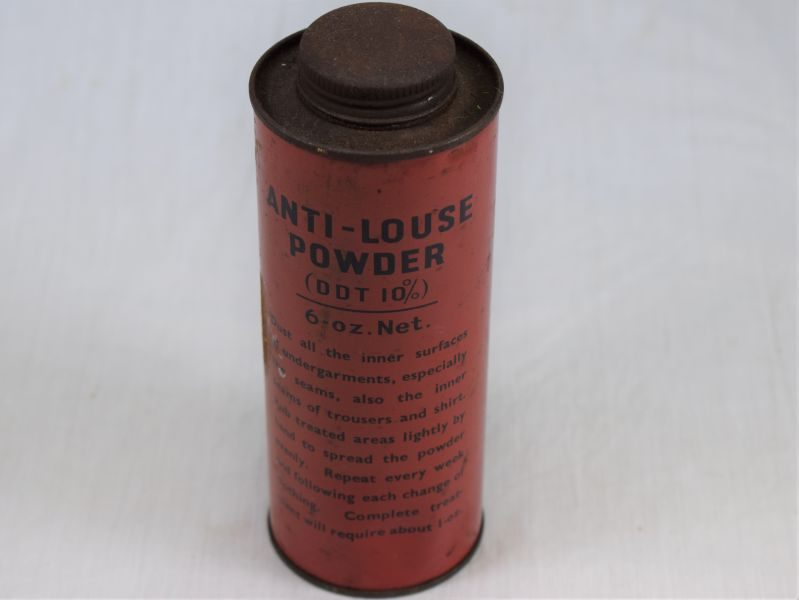 Original WW2 British Military Anti-Louse Powder Container and Contents