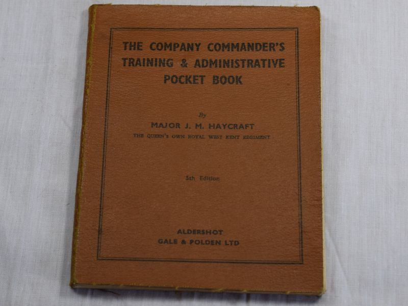 Excellent 1941 Dated The Company Commanders Training & Administrative Pocket Book