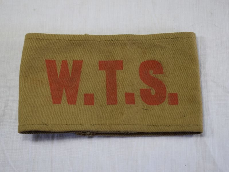Original WW2 British W.T.S. Armband Woman's Transport Service