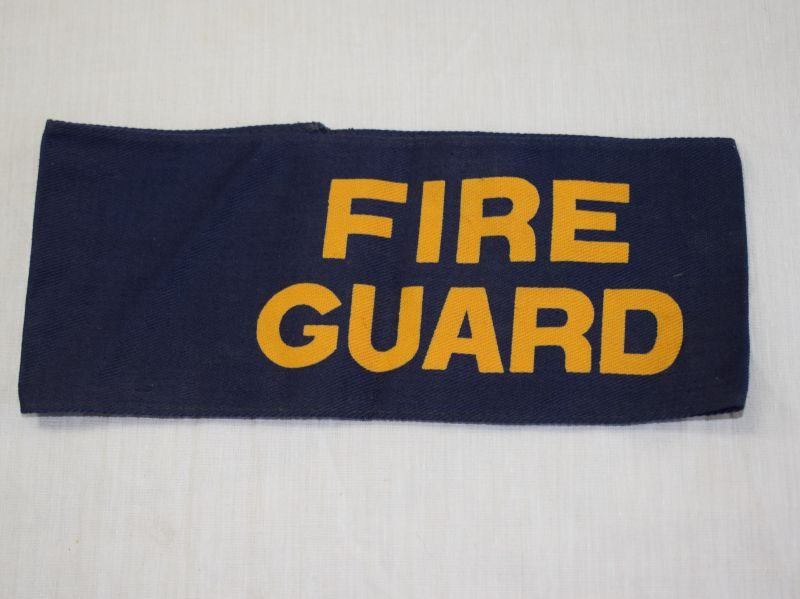 11 Original WW2 British Home front Fire Guard Printed Armband