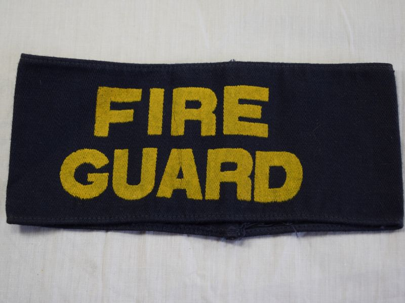 12 Original WW2 British Home front Fire Guard Painted Armband
