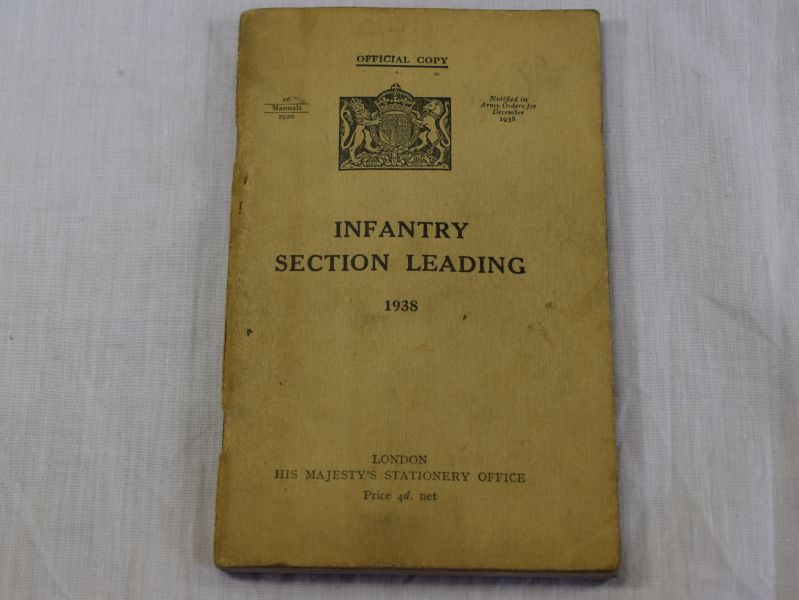 Original 1940 Dated Pamphlet Infantry Section Leading