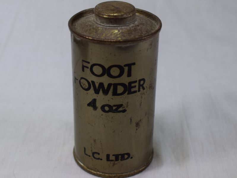 15 Large Round WW2 Tin Containing 4 Oz of Foot Powder