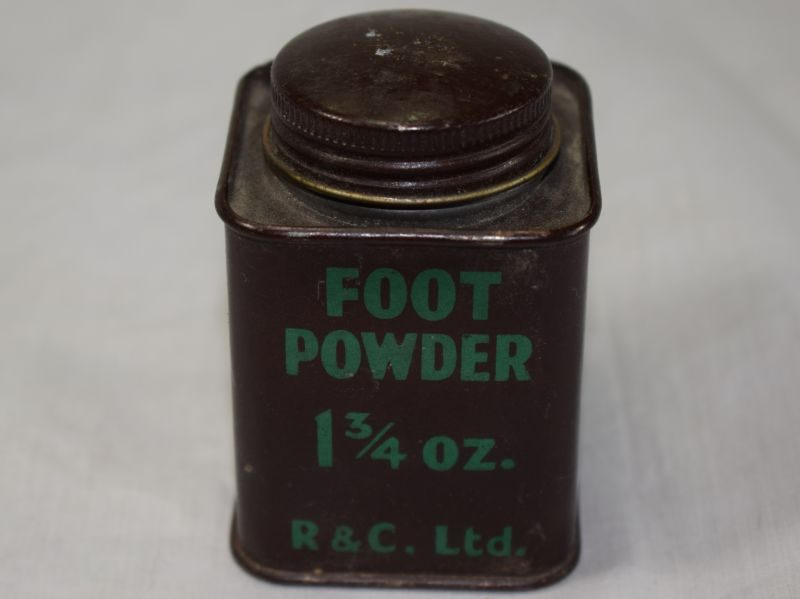 16 Original WW2 British Army Square Tin of Foot Powder 1 ¾ OZ