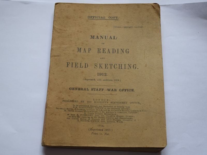 WW1 British Army Manual of Map Reading & Field Sketching 1917