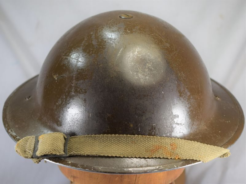 8 Early WW2 British Army Tommy Helmet & Liner Dated 1939/1940