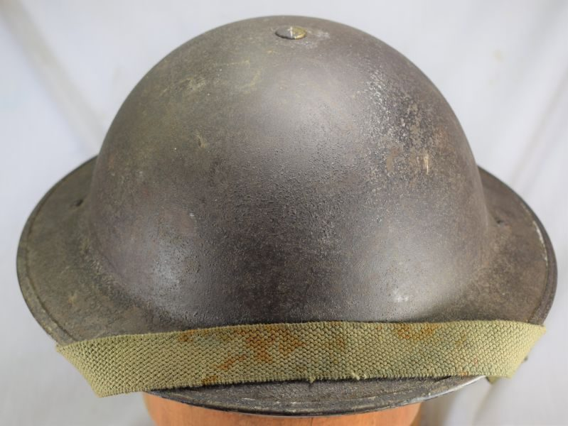 9 Excellent Mid WW2 British Army Tommy Helmet & Liner with Soldiers ID 1943