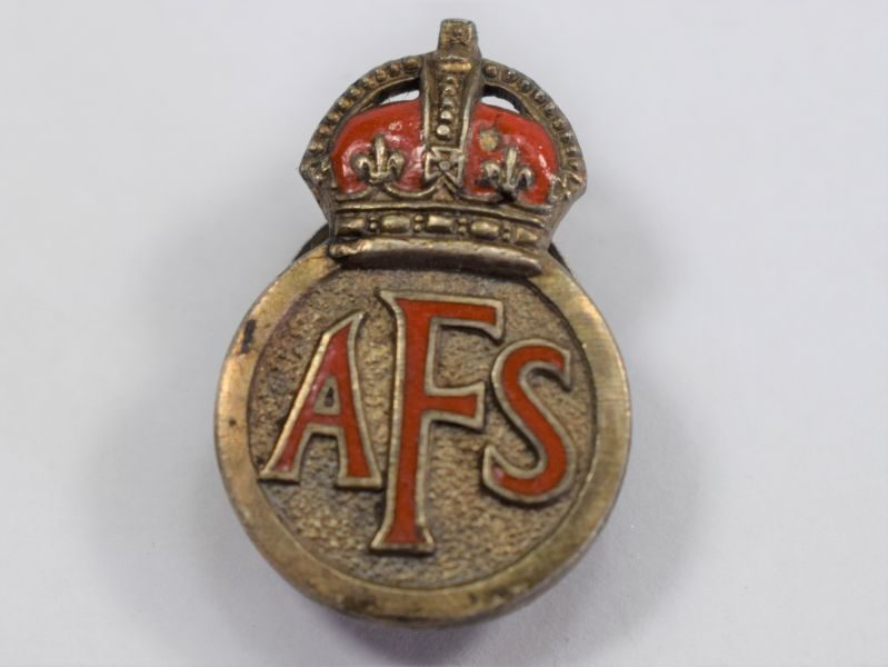 16 Excellent Original Early WW2 AFS Enamelled Lapel Badge