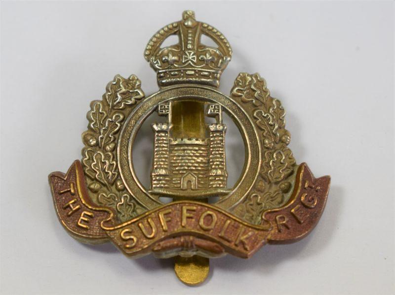 39 Original WW1 The Suffolk Regiment Territorial Battalion Cap Badge