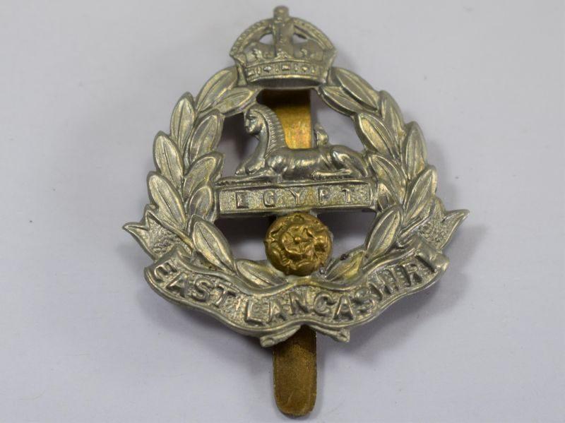 Original WW1 WW2 East Lancashire Bi-Metal Cap Badge