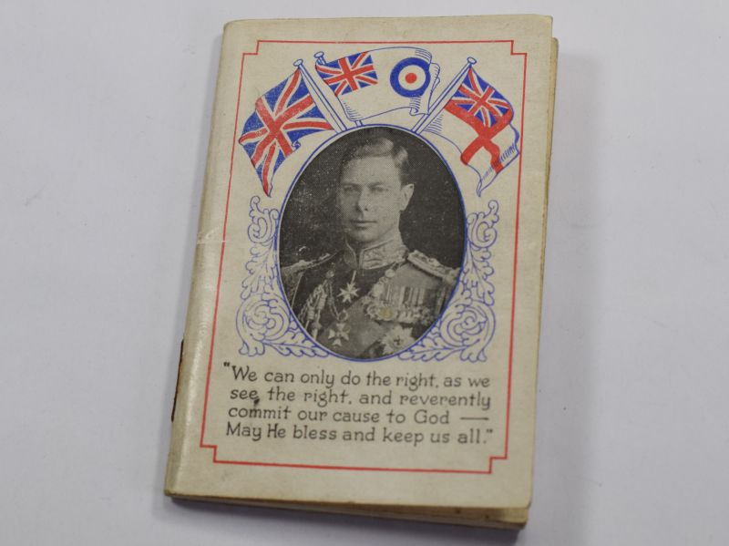 Nice Small Pocket Diary Calendar for 1941 to a Fire Watcher Thurstonland Endowed School