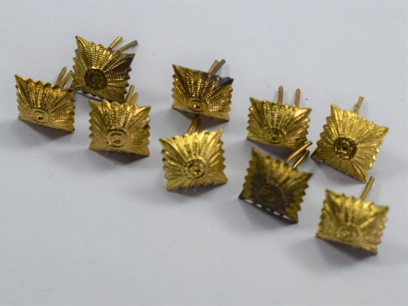 44 Group of 9 Original WW2 German Gold Metal Rank Pips
