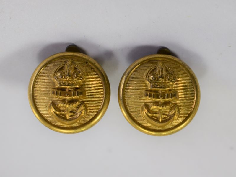 Unusual WW1 WW2 RN Buttons Made Into Earrings WRNS, Sweetheart ?