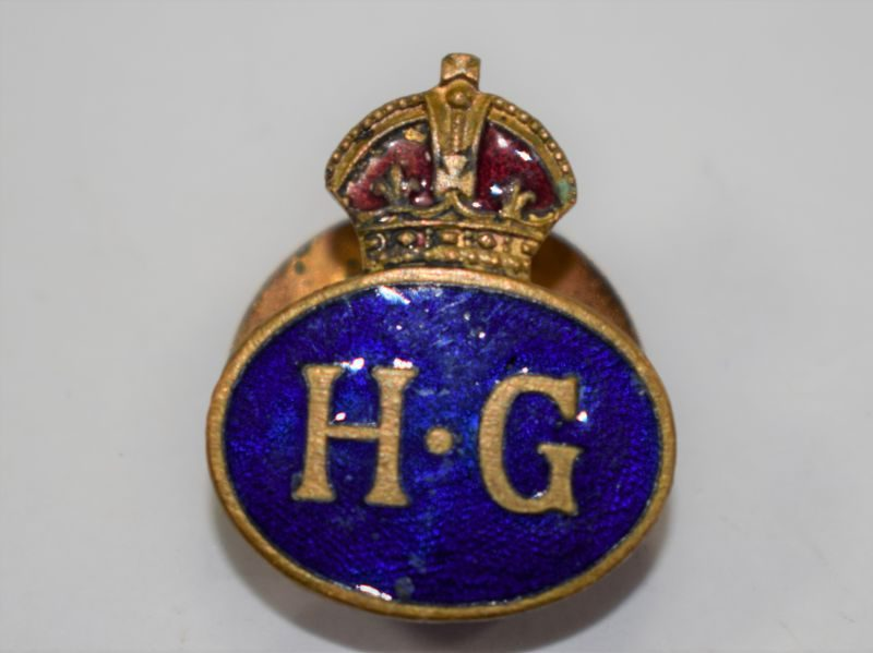 50 Excellent Original WW2 Home Guard Enamelled Lapel Badge