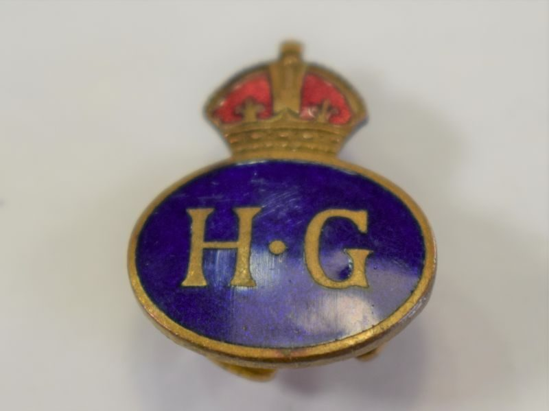 51 Excellent Original Wartime Home Guard Enamelled Lapel Badge