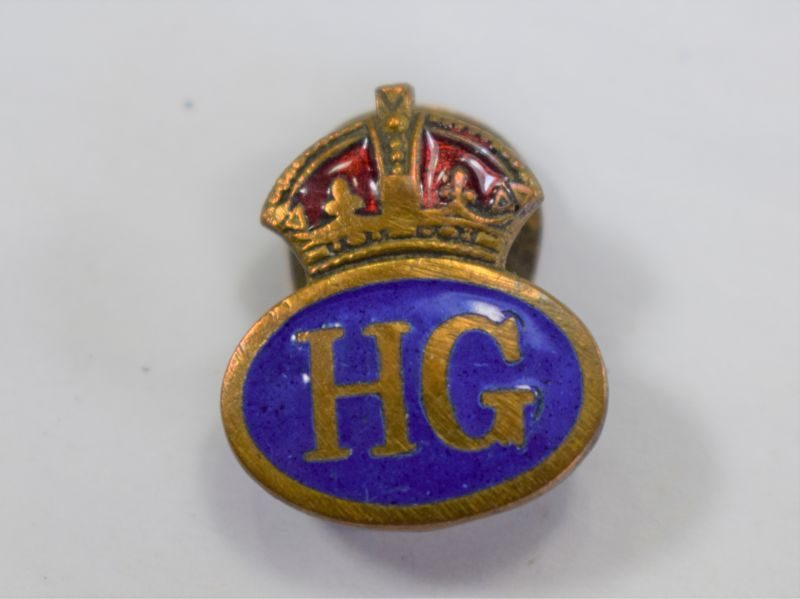 52 Nice Original WW2 Home Guard Enamelled Lapel Badge