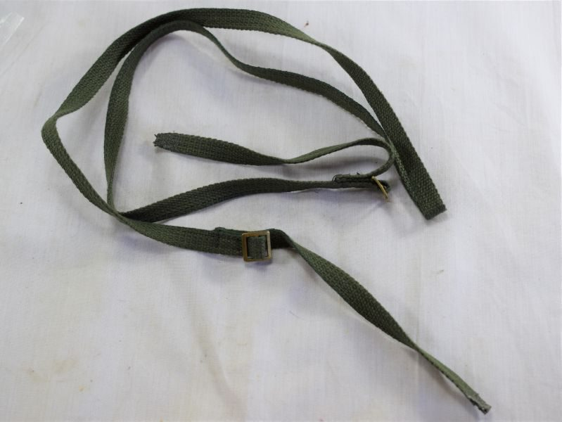 Original WW2-1950s British Army Binocular Neck Straps in Jungle Green