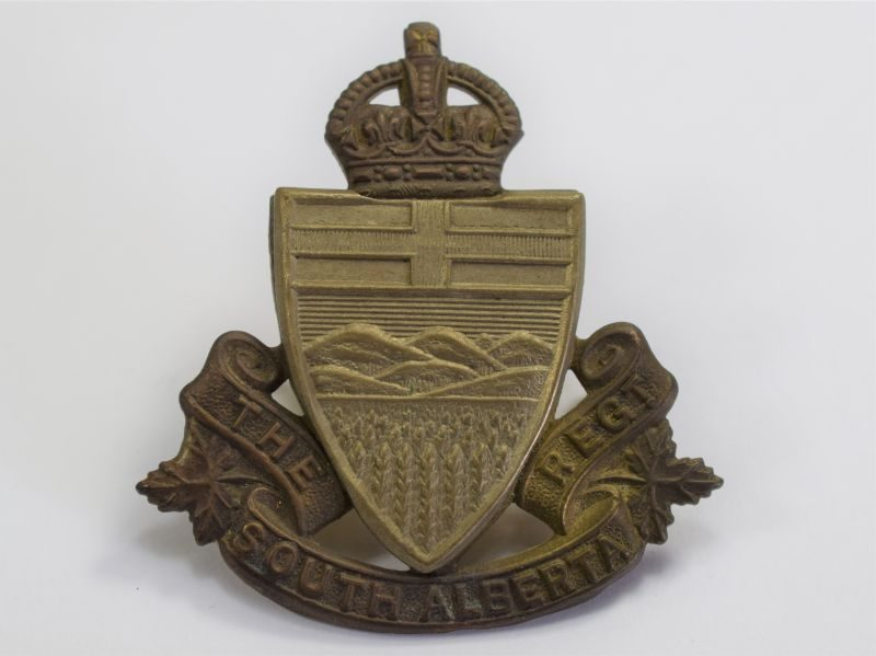 1 Lovely Original WW2 Canadian Cap Badge The South Alberta Regiment