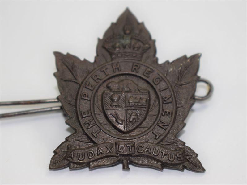 2 Lovely Original WW2 Canadian Cap Badge The Perth Regiment
