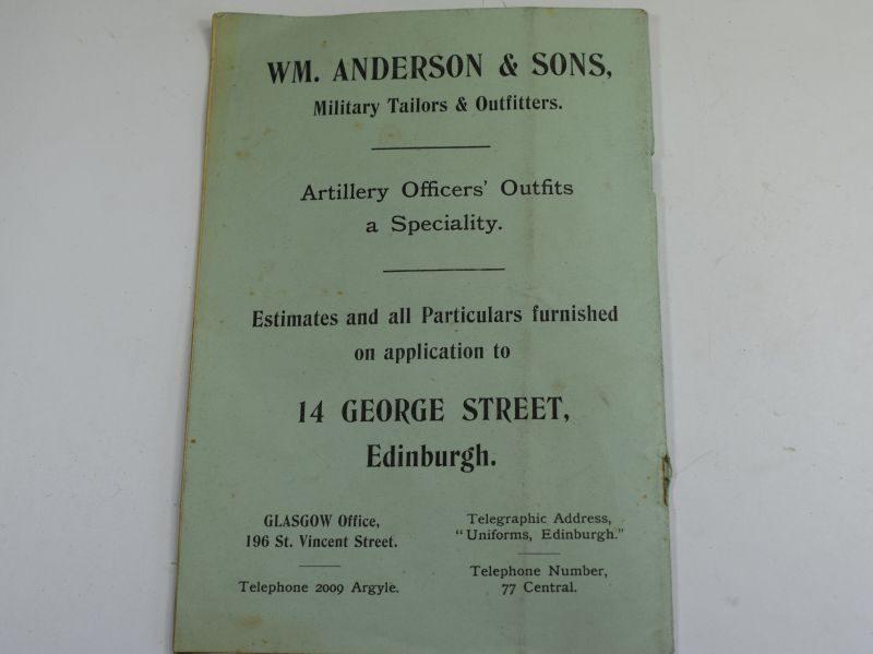 36 Original Booklet Report Of The Scottish National Artillery Association 1907