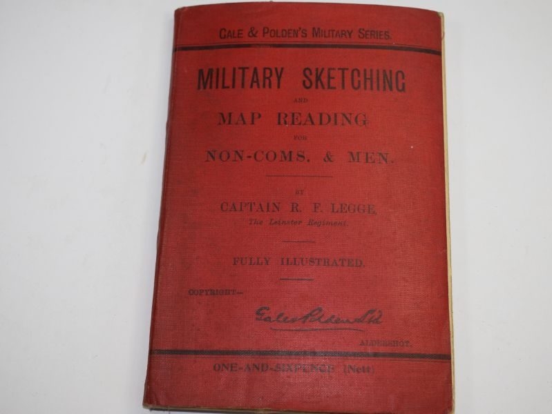 37 Pre WW1 Military Sketching & Map Reading Manual Dated 1906