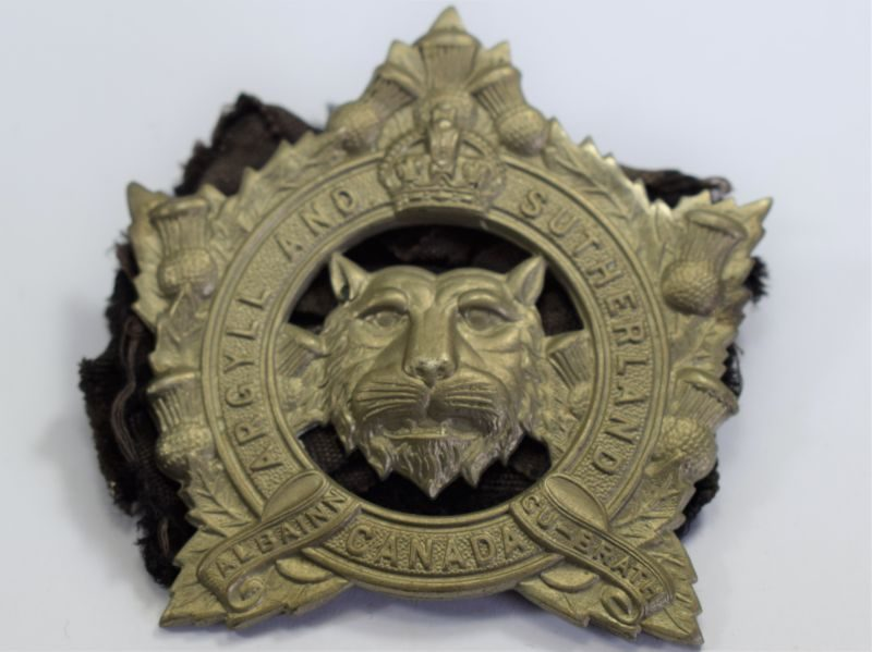 4 Lovely Original WW2 Canadian Cap Badge The Argyll & Sutherland Highlanders Canada