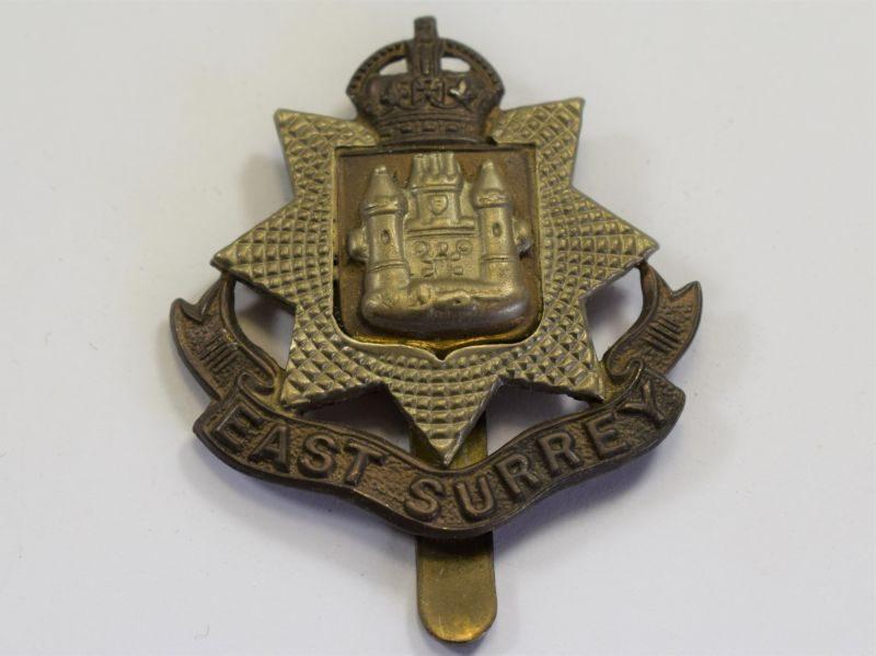 7 Original WW1 WW2 Cap Badge The East Surrey Regiment