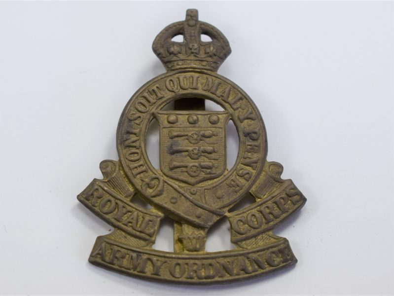 14 Original WW2 Cap Badge The Royal Army Ordnance Corps