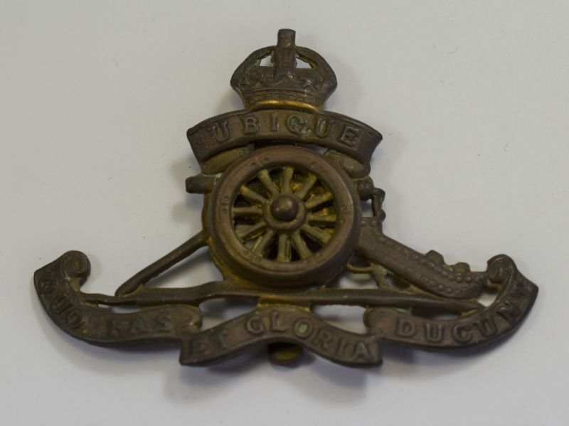 16 Original WW1 WW2 Cap Badge The Royal Artillery