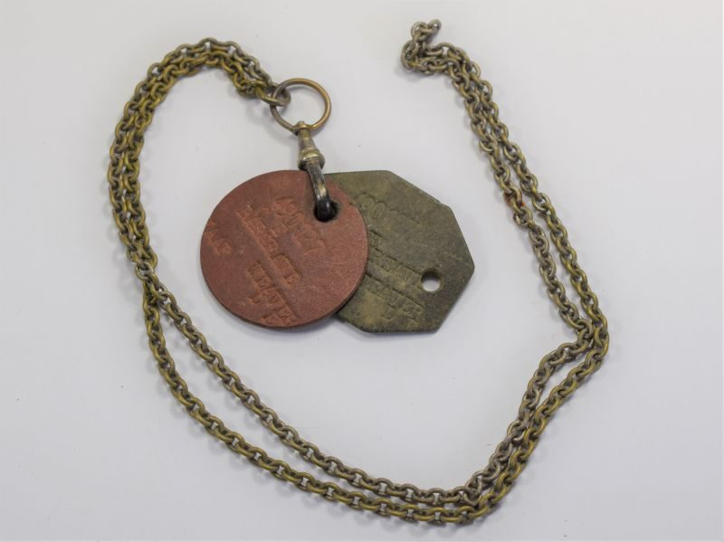 20 Original WW2 WAAF Woman's Dog Tags & Chain to 490127 Bargrave Weaver D.E. WAAF