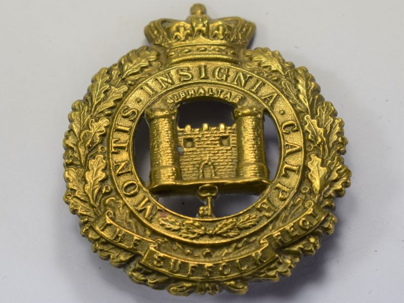 22 Original Large Victorian Pagri Badge to The Suffolk Regiment