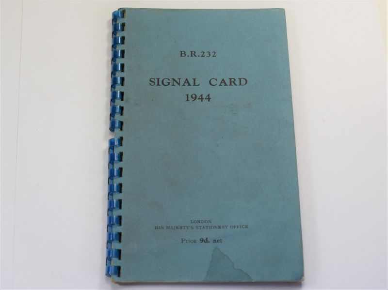 Original WW2 Royal Navy Issue Signal Card Dated 1944