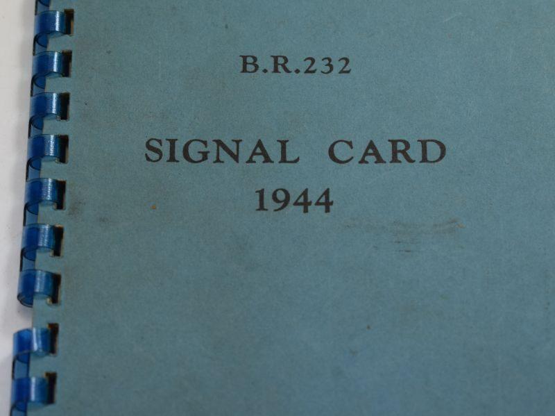 Original WW2 Royal Navy Issue Signal Card Dated 1944
