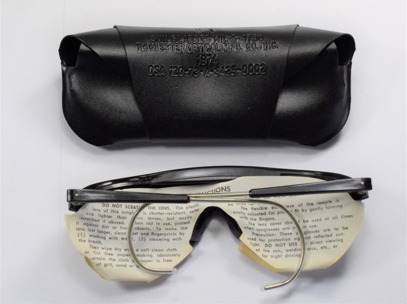 Original Unissued US Military Vietnam Era Sun Glasses Dated 1974