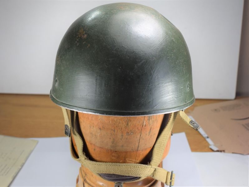 Excellent WW2 Pattern British Airborne Helmet Dated 1955 with 63 Para mans ID