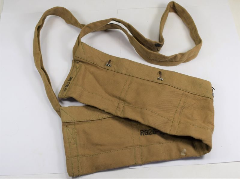 British Army Cotton Ammo Bandolier Dated September 1945