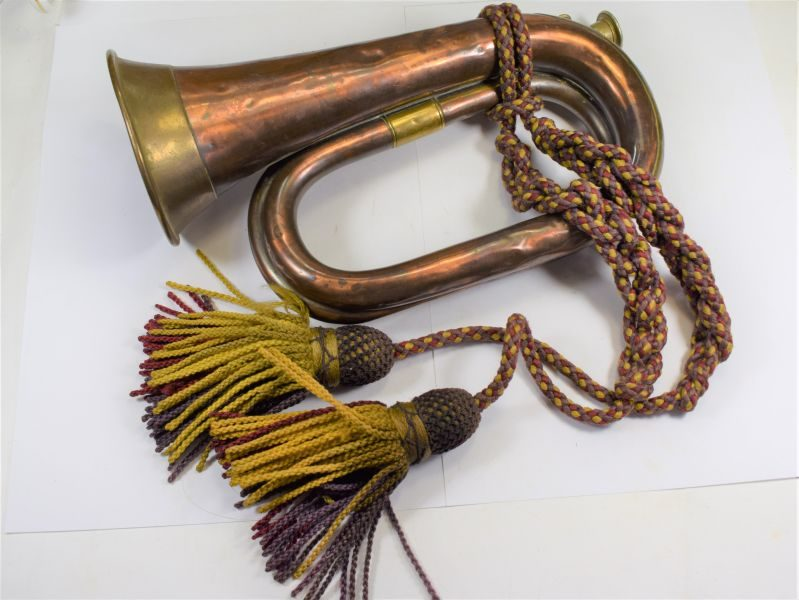 Pre WW1 British Army Issue Bugle Dated 1907 With Original Tassels