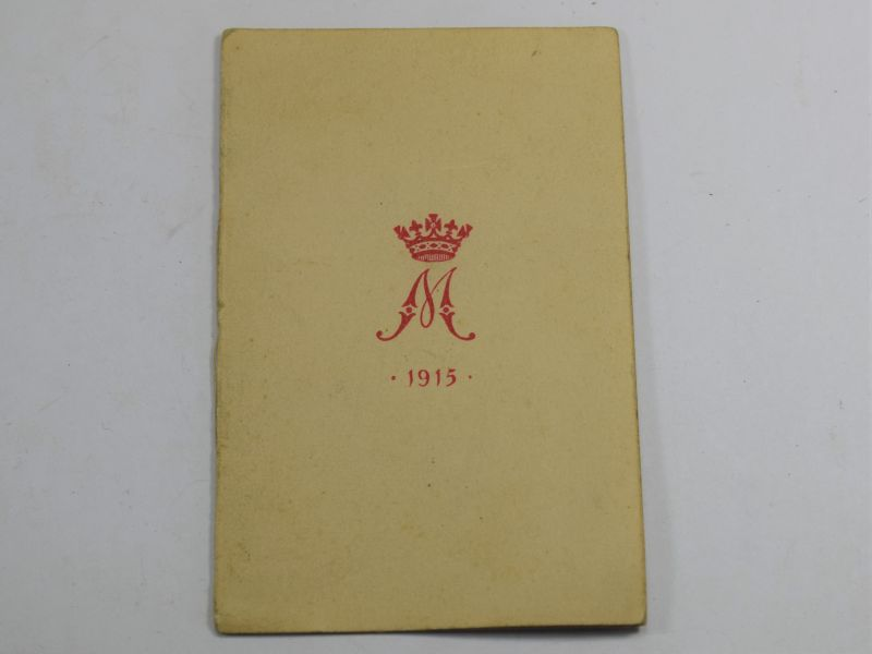 Original WW1 1915 New Year Card from Princess Mary Gift Tin