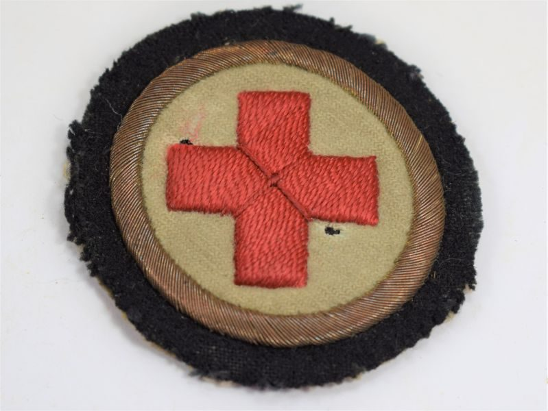 58 Original WW1 Royal Navy Medics Red Cross Sleeve Badge