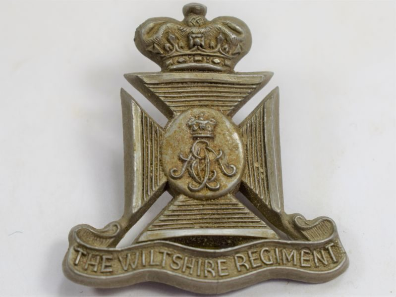 63 Original WW2 Plastic Economy Cap Badge to The Wiltshire Regiment