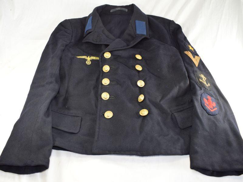 Original WW2 German Navy Kriegsmarine Pea Coat with Insignia